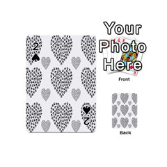 Black Paw Hearts Love Animals Playing Cards 54 (mini)  by Mariart