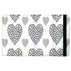 Black Paw Hearts Love Animals Apple Ipad 3/4 Flip Case by Mariart