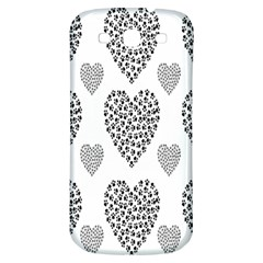 Black Paw Hearts Love Animals Samsung Galaxy S3 S Iii Classic Hardshell Back Case by Mariart