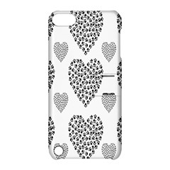Black Paw Hearts Love Animals Apple Ipod Touch 5 Hardshell Case With Stand by Mariart