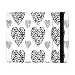 Black Paw Hearts Love Animals Samsung Galaxy Tab Pro 8 4  Flip Case by Mariart