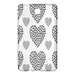 Black Paw Hearts Love Animals Samsung Galaxy Tab 4 (8 ) Hardshell Case  by Mariart