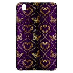 Flower Butterfly Gold Purple Heart Love Samsung Galaxy Tab Pro 8 4 Hardshell Case by Mariart