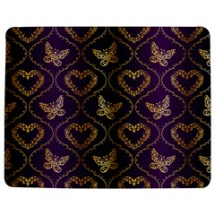 Flower Butterfly Gold Purple Heart Love Jigsaw Puzzle Photo Stand (rectangular) by Mariart