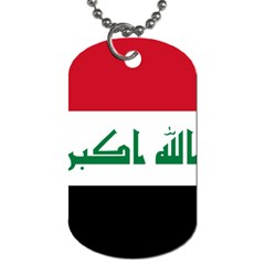 Flag Of Iraq Dog Tag (one Side) by abbeyz71