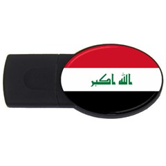 Flag Of Iraq Usb Flash Drive Oval (2 Gb) by abbeyz71