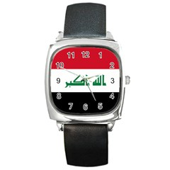 Flag Of Iraq Square Metal Watch by abbeyz71
