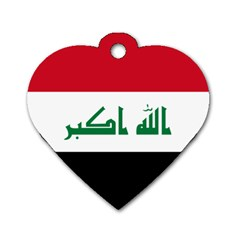 Flag Of Iraq Dog Tag Heart (one Side) by abbeyz71