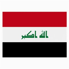 Flag Of Iraq Large Glasses Cloth by abbeyz71