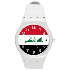 Flag Of Iraq Round Plastic Sport Watch (m) by abbeyz71