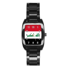 Flag Of Iraq Stainless Steel Barrel Watch by abbeyz71
