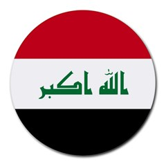 Flag Of Iraq  Round Mousepads