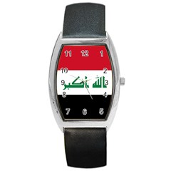 Flag Of Iraq  Barrel Style Metal Watch by abbeyz71