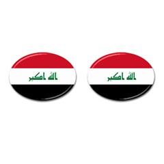 Flag Of Iraq  Cufflinks (oval) by abbeyz71