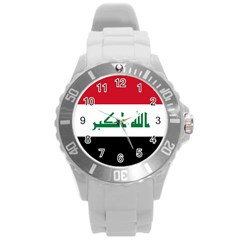 Flag Of Iraq  Round Plastic Sport Watch (l) by abbeyz71