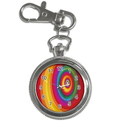Circle Rainbow Color Hole Rasta Key Chain Watches by Mariart