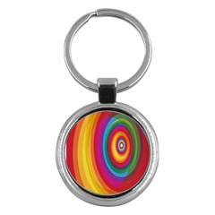 Circle Rainbow Color Hole Rasta Key Chains (round)  by Mariart