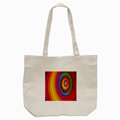 Circle Rainbow Color Hole Rasta Tote Bag (cream) by Mariart