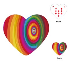 Circle Rainbow Color Hole Rasta Playing Cards (heart)  by Mariart