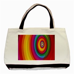Circle Rainbow Color Hole Rasta Basic Tote Bag (two Sides) by Mariart