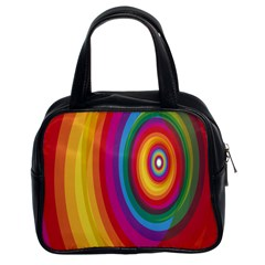 Circle Rainbow Color Hole Rasta Classic Handbags (2 Sides) by Mariart