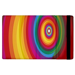 Circle Rainbow Color Hole Rasta Apple Ipad 2 Flip Case by Mariart