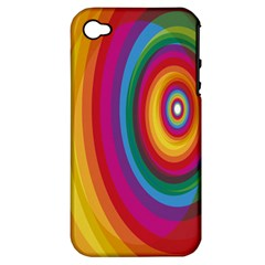 Circle Rainbow Color Hole Rasta Apple Iphone 4/4s Hardshell Case (pc+silicone) by Mariart