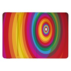 Circle Rainbow Color Hole Rasta Samsung Galaxy Tab 8 9  P7300 Flip Case by Mariart