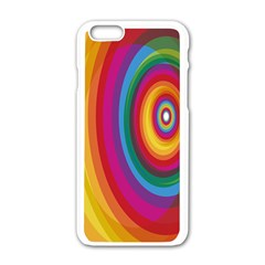 Circle Rainbow Color Hole Rasta Apple Iphone 6/6s White Enamel Case by Mariart