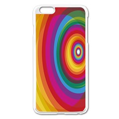Circle Rainbow Color Hole Rasta Apple Iphone 6 Plus/6s Plus Enamel White Case by Mariart