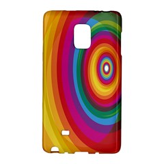 Circle Rainbow Color Hole Rasta Galaxy Note Edge by Mariart
