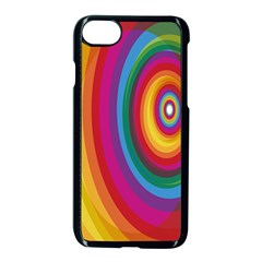Circle Rainbow Color Hole Rasta Apple Iphone 7 Seamless Case (black) by Mariart
