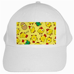 Animals Yellow Chicken Chicks Worm Green White Cap by Mariart