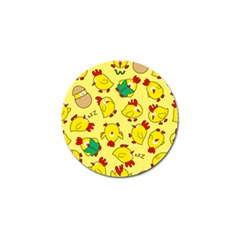 Animals Yellow Chicken Chicks Worm Green Golf Ball Marker (4 Pack) by Mariart