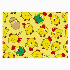 Animals Yellow Chicken Chicks Worm Green Large Glasses Cloth by Mariart