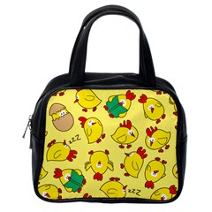 Animals Yellow Chicken Chicks Worm Green Classic Handbags (one Side) by Mariart