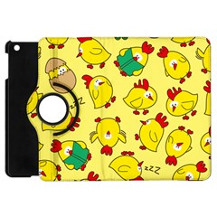 Animals Yellow Chicken Chicks Worm Green Apple Ipad Mini Flip 360 Case by Mariart