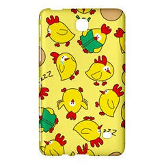 Animals Yellow Chicken Chicks Worm Green Samsung Galaxy Tab 4 (8 ) Hardshell Case  by Mariart