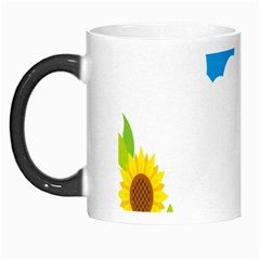 Cloud Blue Sky Sunflower Yellow Green White Morph Mugs by Mariart