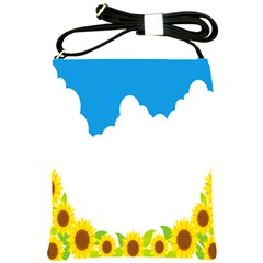 Cloud Blue Sky Sunflower Yellow Green White Shoulder Sling Bags by Mariart