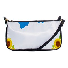 Cloud Blue Sky Sunflower Yellow Green White Shoulder Clutch Bags by Mariart