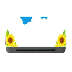 Cloud Blue Sky Sunflower Yellow Green White Memory Card Reader With Cf by Mariart
