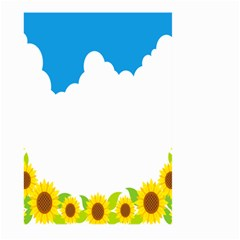 Cloud Blue Sky Sunflower Yellow Green White Large Garden Flag (two Sides) by Mariart