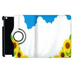 Cloud Blue Sky Sunflower Yellow Green White Apple iPad 3/4 Flip 360 Case Front