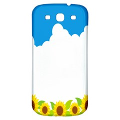 Cloud Blue Sky Sunflower Yellow Green White Samsung Galaxy S3 S Iii Classic Hardshell Back Case by Mariart