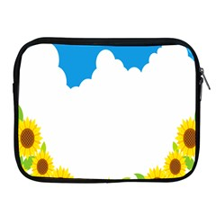 Cloud Blue Sky Sunflower Yellow Green White Apple Ipad 2/3/4 Zipper Cases by Mariart