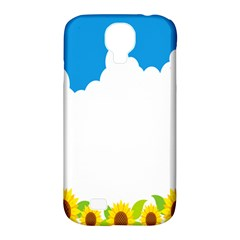 Cloud Blue Sky Sunflower Yellow Green White Samsung Galaxy S4 Classic Hardshell Case (pc+silicone) by Mariart