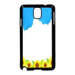 Cloud Blue Sky Sunflower Yellow Green White Samsung Galaxy Note 3 Neo Hardshell Case (black) by Mariart