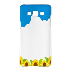 Cloud Blue Sky Sunflower Yellow Green White Samsung Galaxy A5 Hardshell Case  by Mariart