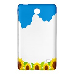 Cloud Blue Sky Sunflower Yellow Green White Samsung Galaxy Tab 4 (7 ) Hardshell Case  by Mariart